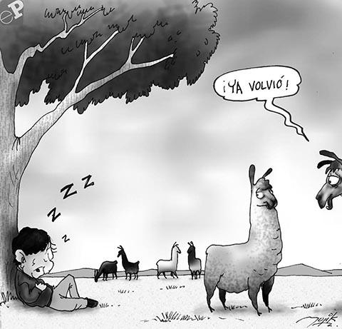 caricatura condori