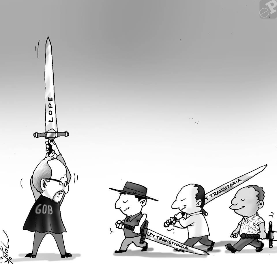 Caricatura enfrentamiento
