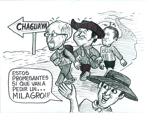Caricatura de pergrinos