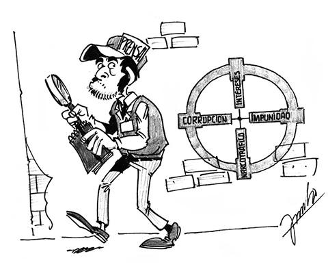 Caricatura sobre la prensa