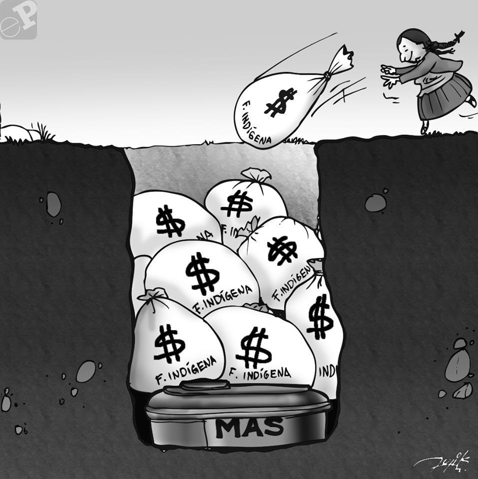 Caricatura del Fondo Indigena