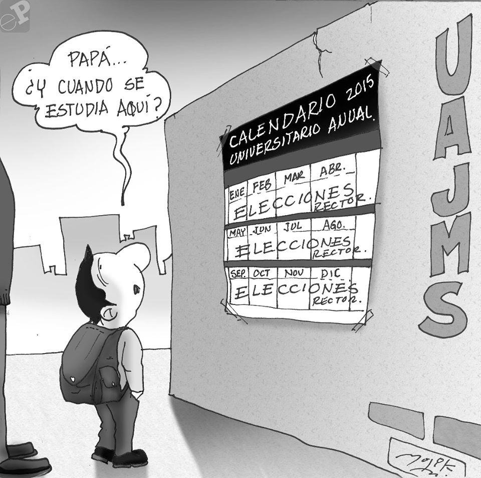 Caricatura de universidad