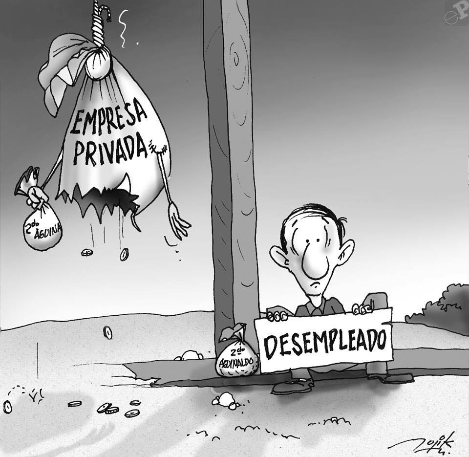 Caricatura de la empresa privada