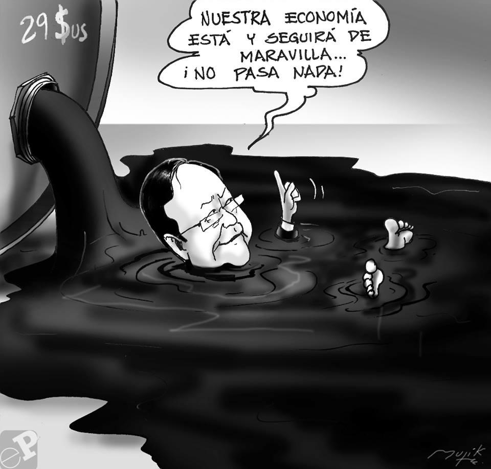 Caricatura precios petroleo