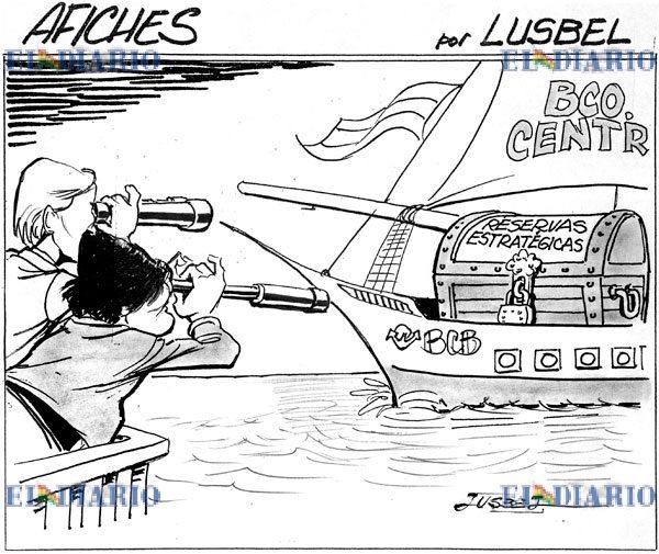 Caricatura reservas internacionales