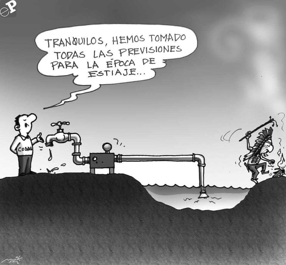 Caricatura sobre estiaje