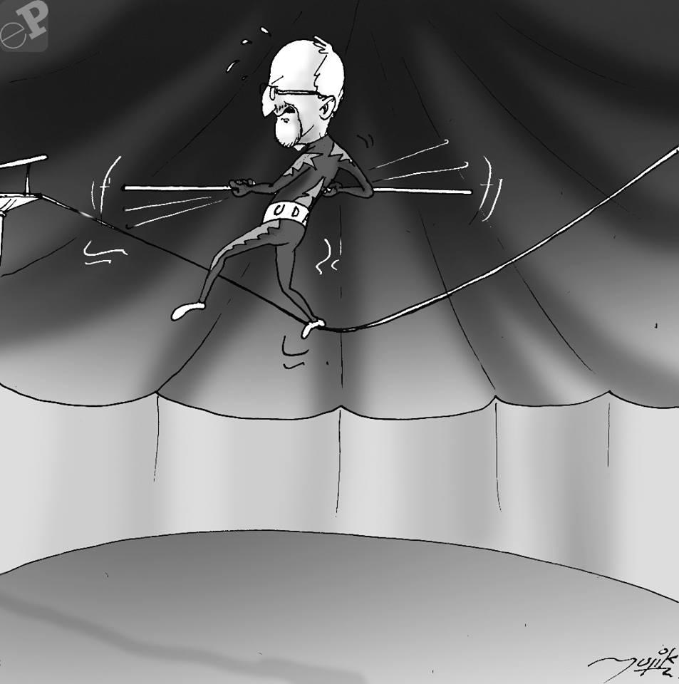 Caricatura de equilibrista