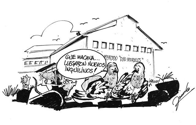 Caricatura sobre mercados