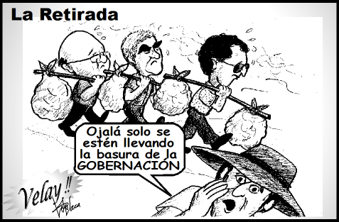 caricatura de retirada