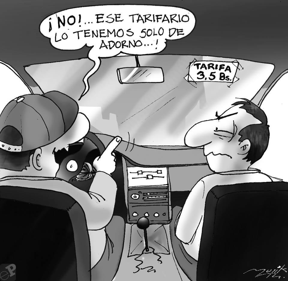 Caricatura taxi