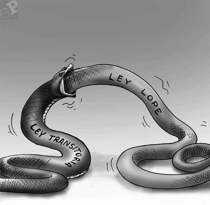 Caricatura sobre serpientes