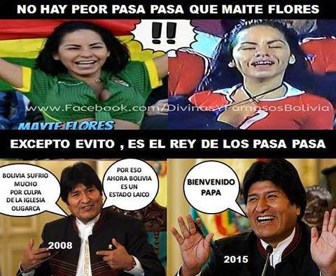 Meme de Mayte y Evo