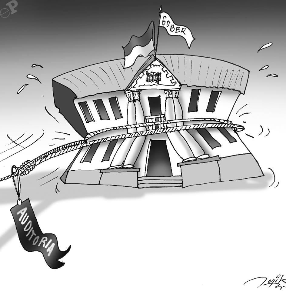Caricatura de auditorias