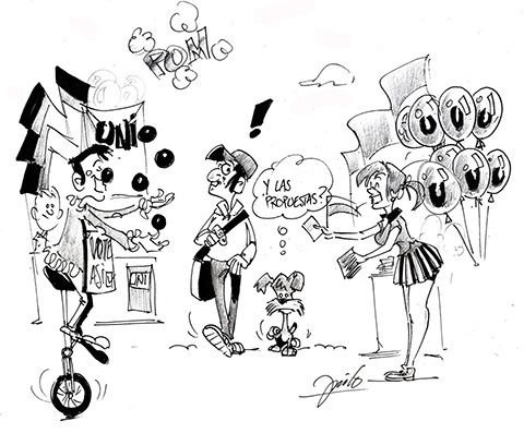 Caricatura de elecciones