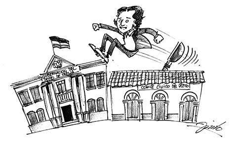 Caricatura de trampolin