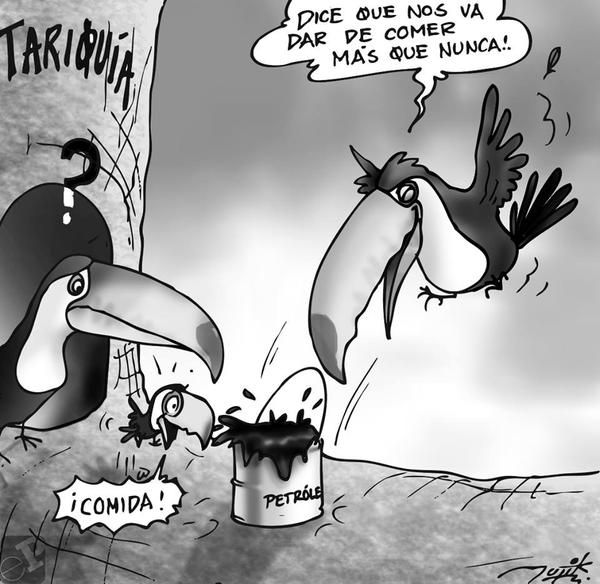 Caricatura sobre reservas naturales