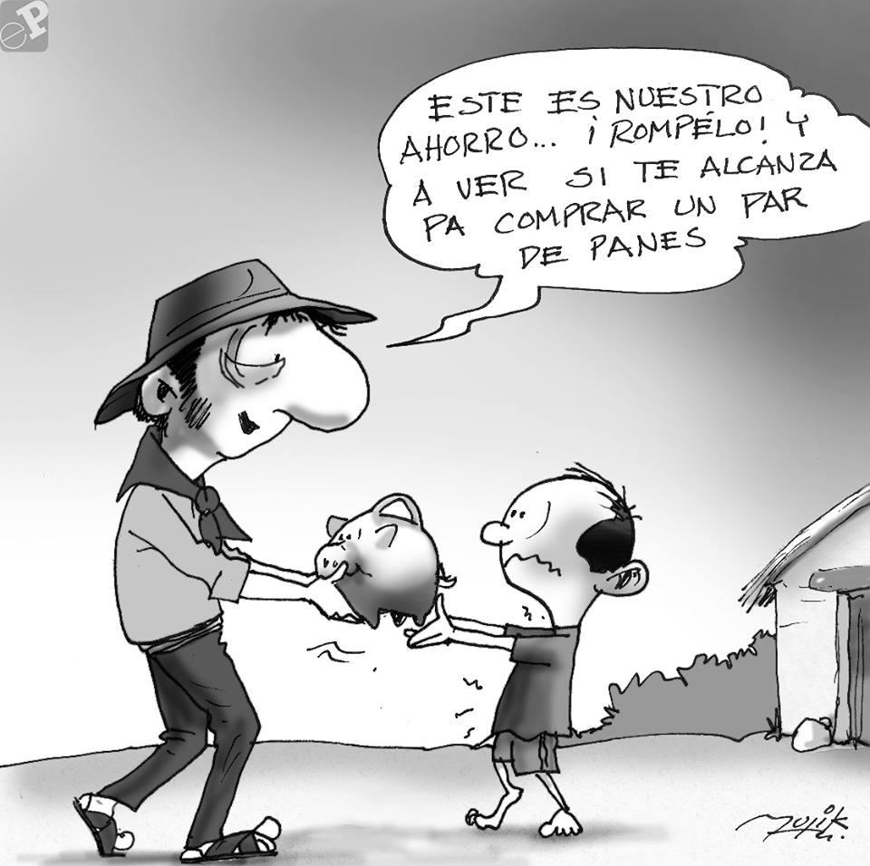 Caricatura de ahorro