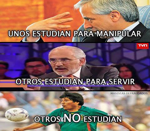 Meme sobre politicos del Estado Plurinacional de Bolivia
