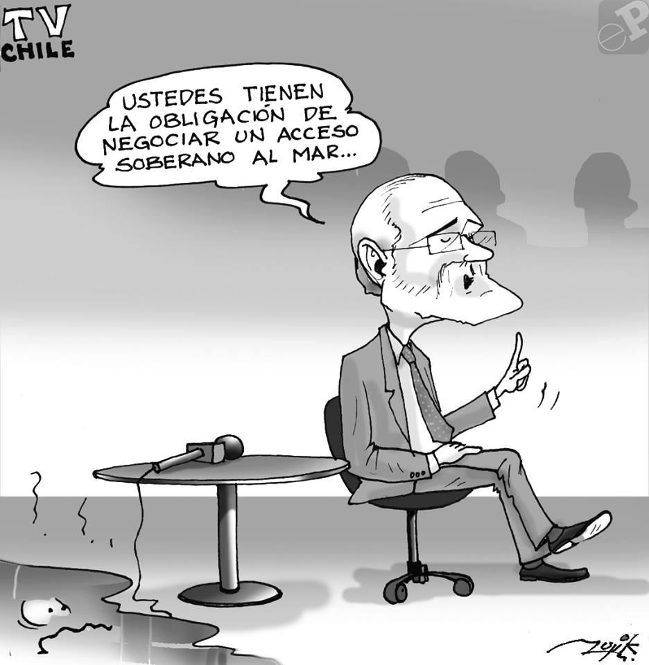 Caricatura de Carlos Mesa