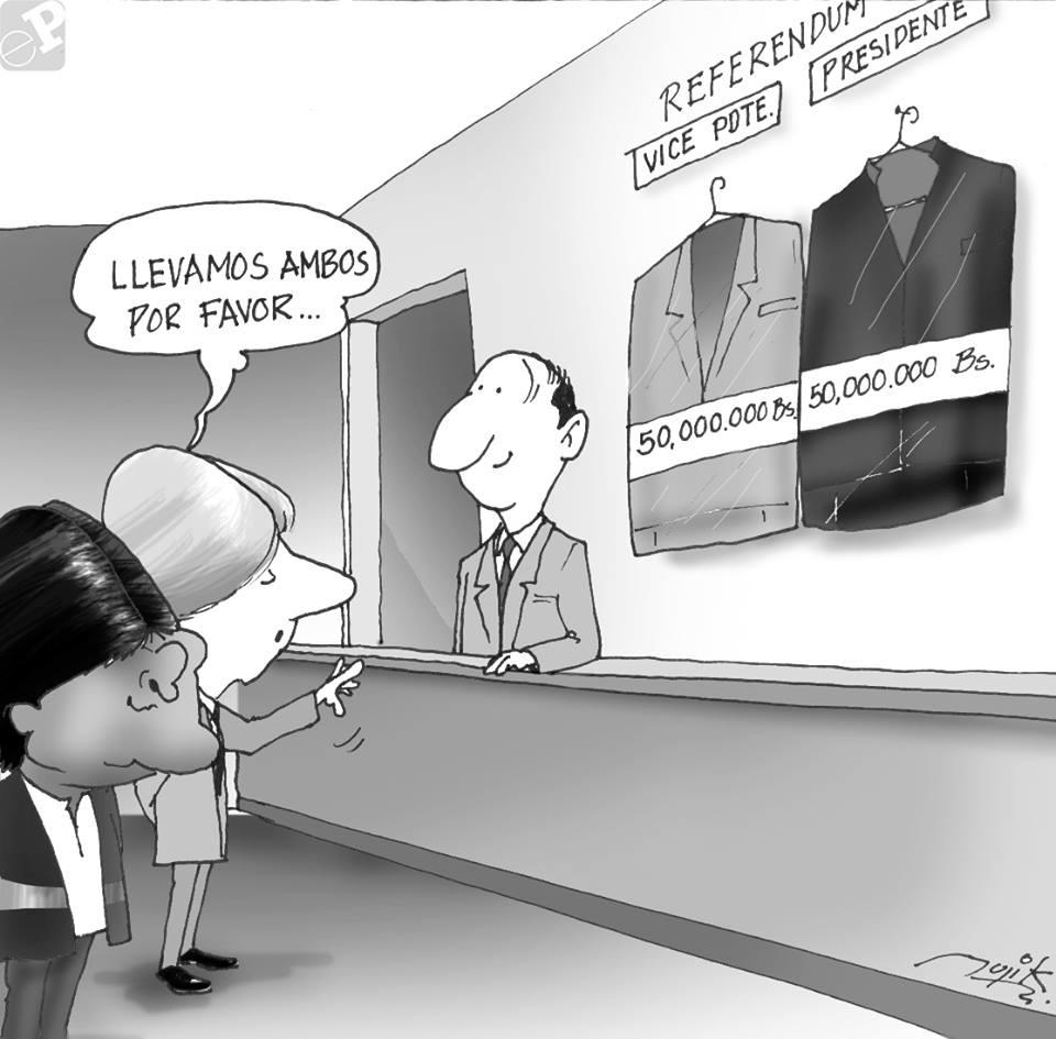 Caricatura sobre trajes