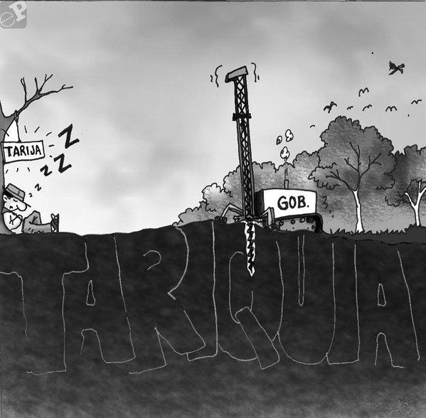 Caricatura sobre deforestación