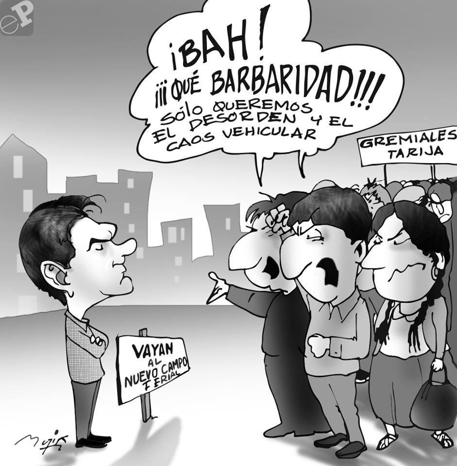 Caricatura sobre protesta
