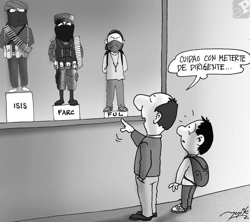 Caricatura sobre terroristas