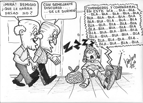 Caricatura mensaje presidencial