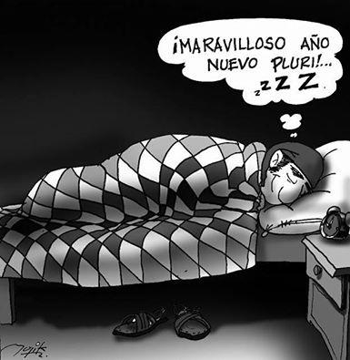 Caricatura del Año Nuevo Aymara