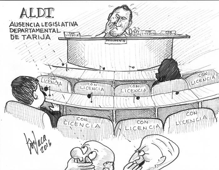 Caricatura licencias en el Estado Plurinacional