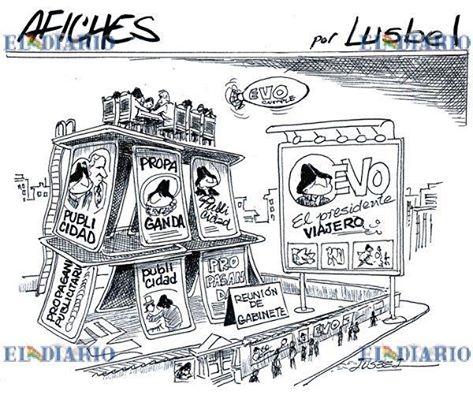 Caricatura sobre el castillo de naipes que es el Esado Plurinacional