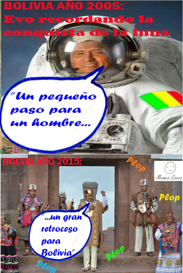 Meme de Evo astronauta