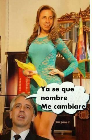 Meme sobre García Linera y su cambio de nombre
