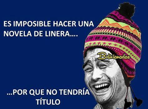 Meme sobre novela de Garcia Linera