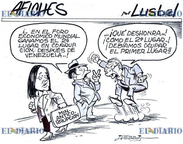 Caricatura de corrupción